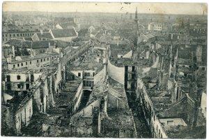 Podhradie po požiari vroku 1913.
