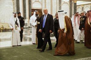 Donald Trump a saudský kráľ Salmán.