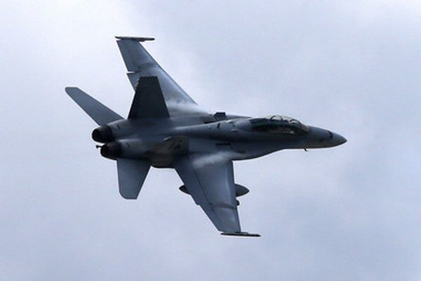 Americká stíhačka F/A-18 Hornet, ktorú v súčasnosti využíva švajčiarske letectvo.