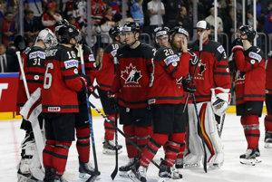 Sklamaní Kanaďania po finálovom súboji.