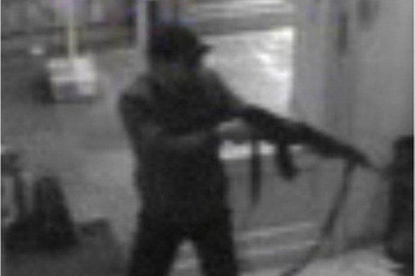Záber útočníka.