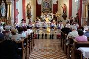 Kostol sv. Matúša vo Vysokej nad Kysucou bol dejiskom vystúpenia mužskej speváckej skupiny Lidovec zo Solčian.