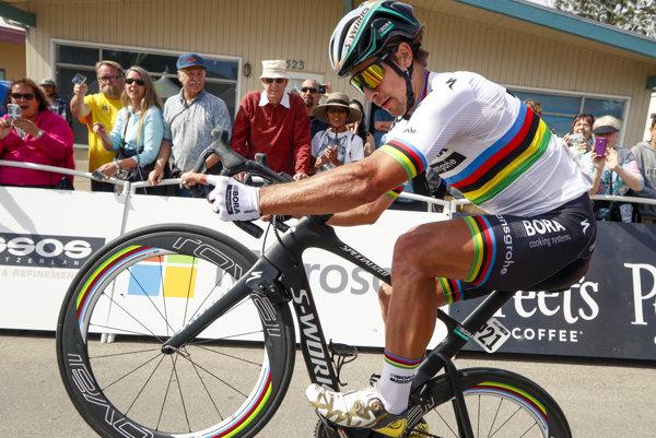 Aj takto Peter Sagan nedávno bavil na pretekoch Okolo Kalifornie.