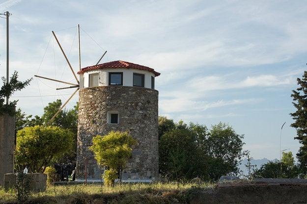 Tradičný mlyn na ostrove Kos.