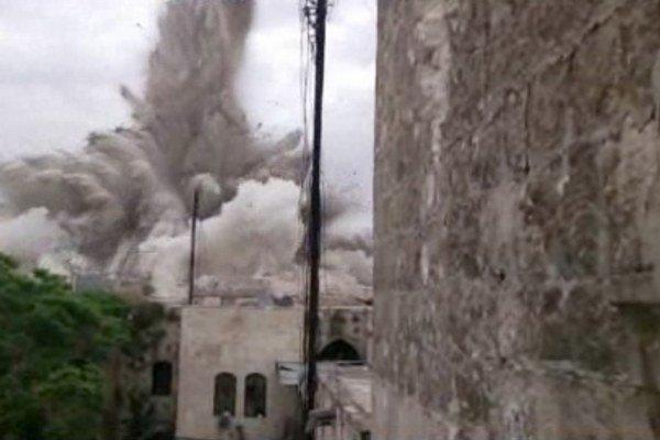 Explózia hotela Carlton v Aleppe.