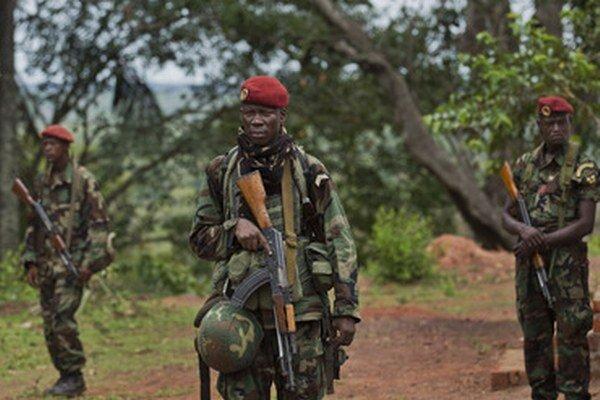 Vojaci Stredoafrickej republiky.