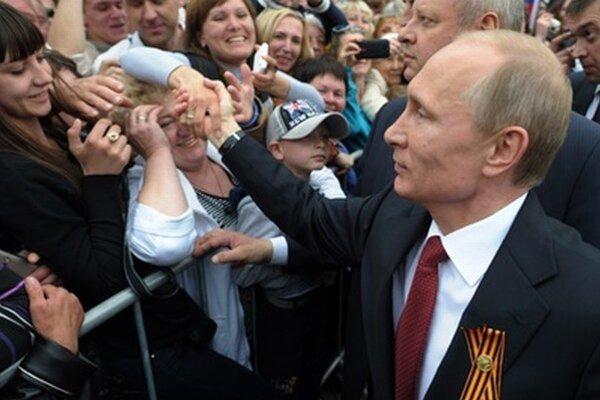 Ruský prezident počas osláv na Kryme.