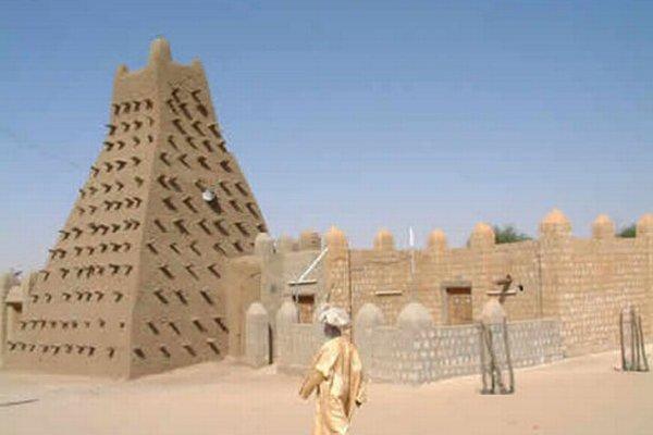 Mešita v Timbuktu.