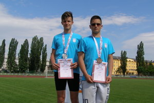 Úspešní medailisti z AK Danica - Radoslav Franko (vpravo) a Igor Gallay