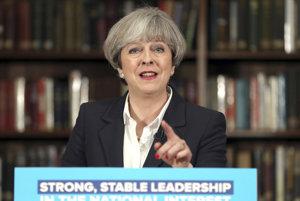 Britská premiérka.