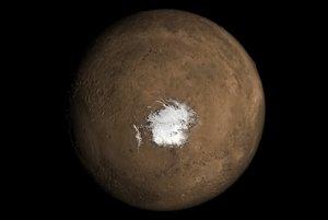 Južný pól Marsu, kde objavili záhadnú dieru.