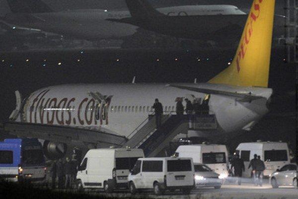 Lietadlo po núdzovom pristátí.