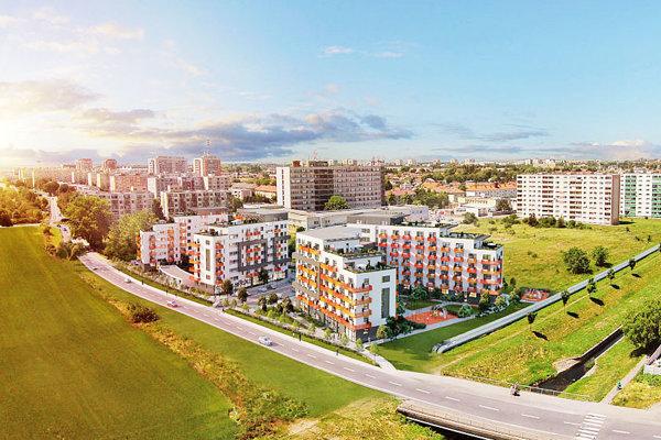 Vizualizácia bytového komplexu MIKO.
