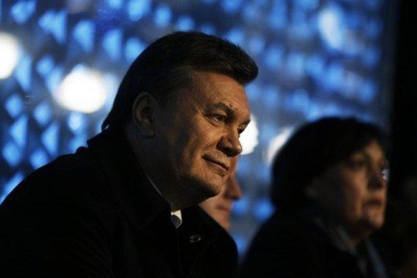 Janukovyč na otváracom ceremoniáli v Soči.