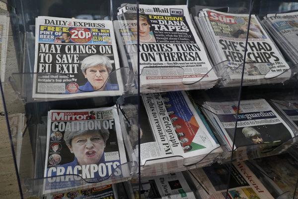Titulky britských novín po voľbách.