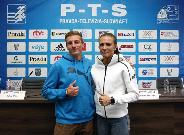 Šprintér na 60 metrov Ján Volko a bežkyňa na 400 metrov Iveta Putalová.
