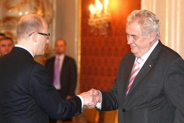 Bohuslav Sobotka a Miloš Zeman.