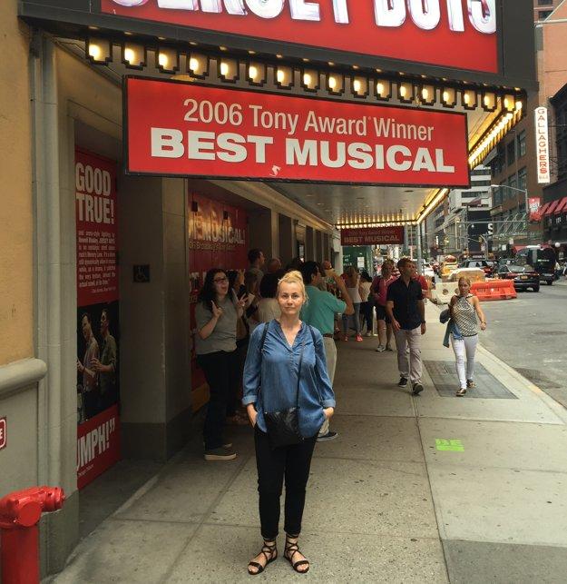Herečka na návšteve USA - v New Yorku.