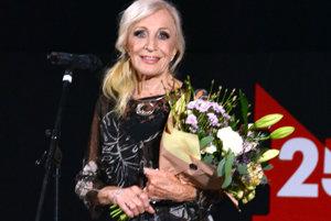 Jubilantku Máriu Kráľovičovú si organizátori Art Film Festu uctili špeciálnou cenou.