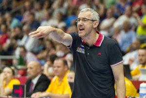 Tréner slovenských basketbalistiek Marian Svoboda.