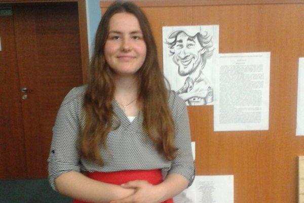 Sára Mikolášová získala prvé miesto vsúťaži.