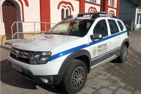 Auto ružomberských mestských policajtov. Ilustračné foto: (MG)