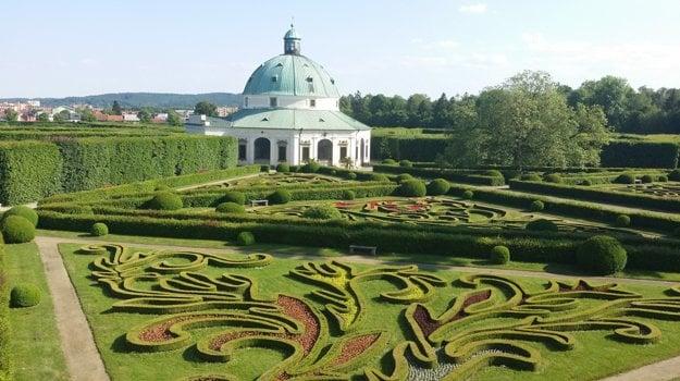 Kvetná záhrada v Kroměříži.