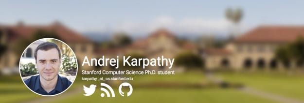 Andreja Karpathy na webe Stanfordskej univerzity.