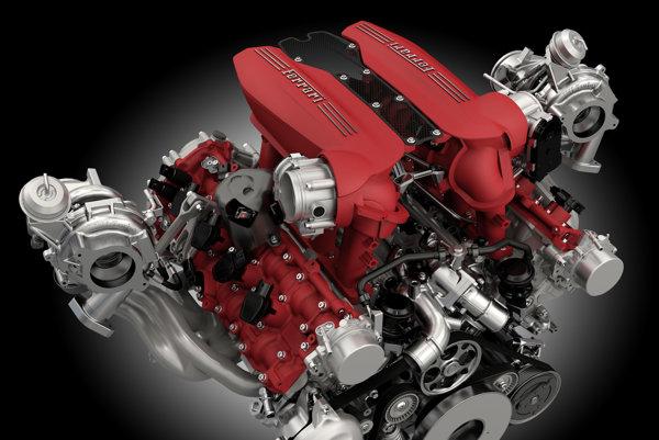 Ferrari 488 GTB motor
