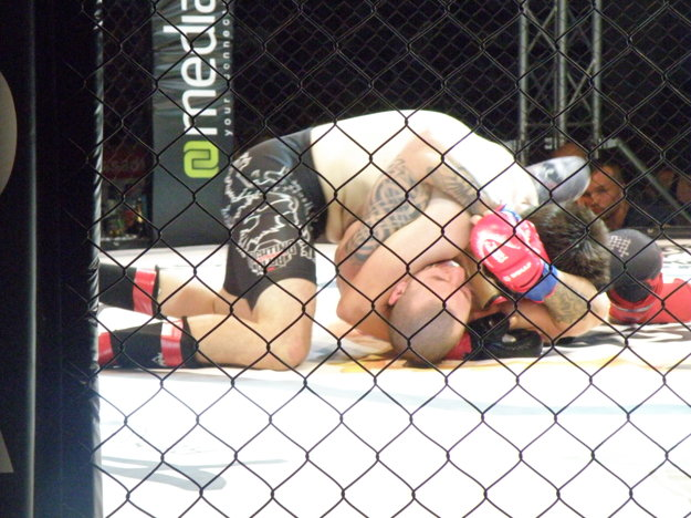 Škrtenie je v MMA jedným zo spôsobov predčasného ukončenia zápasu.