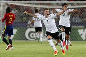 Radosť nemeckých futbalistov tesne po skončení finálového stretnutia.