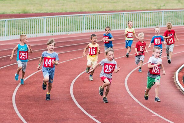Predškoláci súťažili na kratších tratiach.