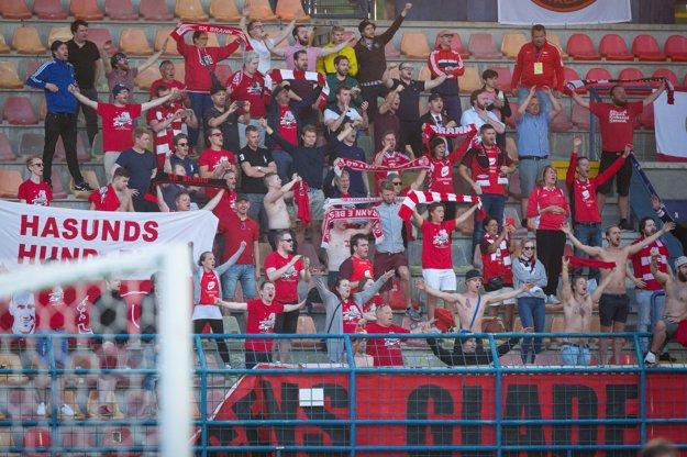 fanúšikovia nórskeho klubu SK Brann Bergen sa radujú.