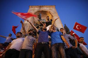 Turecko je rok po neúspešnom puči rozdelené. Na snímke podporovatelia prezidenta Recepa Tayyipa Erdogana.