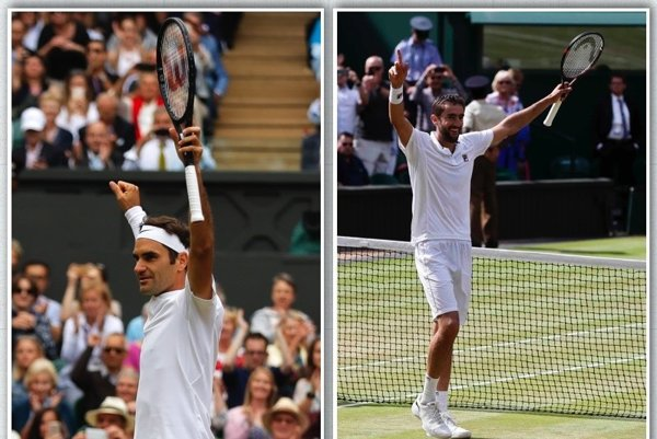 Wimbledon 2017 bude mať finále v zložení Marin Čilič (vpravo) - Roger Federer.