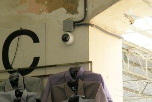 Kamera na mestskej tržnici.