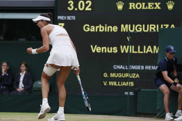 Radosť Garbine Muguruzovej-Blancovej.