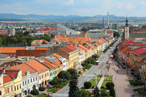 Pohľad na dnešnú pešiu zónu v Prešove.