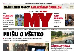 Titulná strana týždenníka MY Prešovské noviny č. 29/2017.