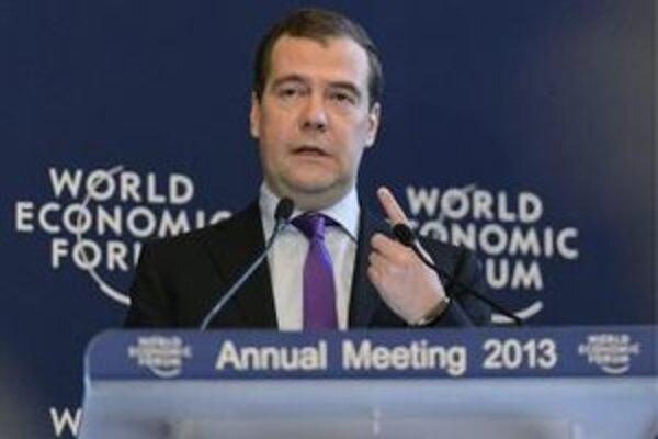 Medvedev na Svetovom ekonomickom fóre v Davose.