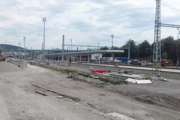 Z výstavby stanice.