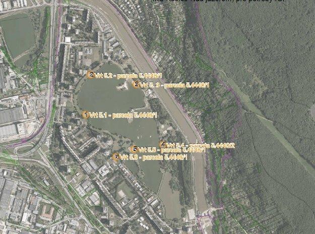 Mapka s miestami, kde sa budú realizovať vrty