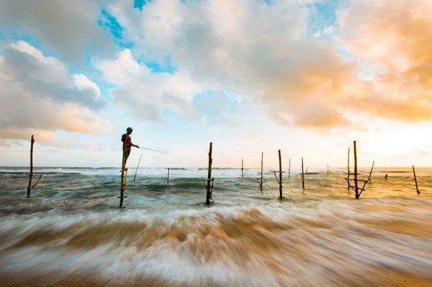 Chytanie rýb na Srí Lanke