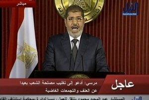 Egyptský prezident Muhammad Mursí.