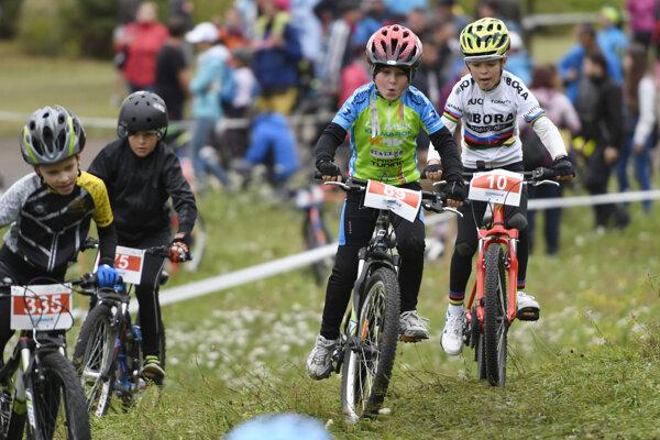 Na snímke deti na Detskej tour Petra Sagana, ktorá bola súčasťou Horal víkendu popri preteku Majstrovstiev Európy 2017 UEC v maratóne horských bicyklov vo Svite.