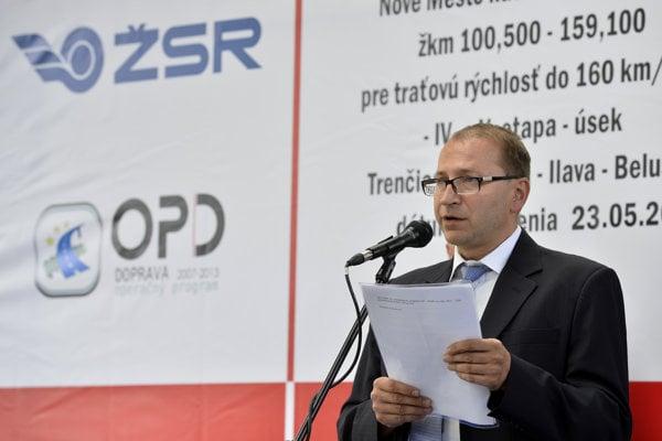Bývalý generálny riaditeľ Železníc Slovenskej republiky Štefan Hlinka