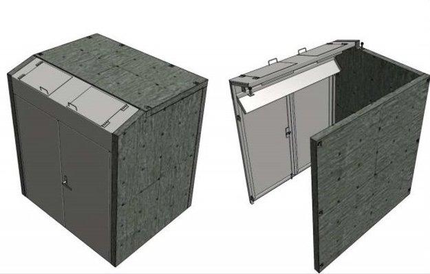 Uzamykanie kontajnerov formou betónových krytov.