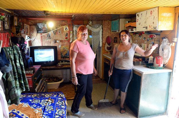 Mnohí Rómovia vo Veľkej Ide žijú v karavanoch.