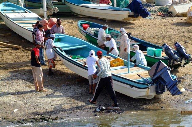 Muskat - ráno pri rybacom trhu.