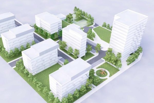 Rozľahlý komplex. Podľa starostu by malo na tomto mieste bývať okolo 900 ľudí.